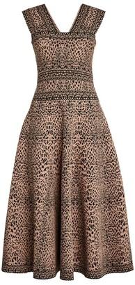 Alaia Lynx Midi Dress