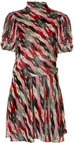 Etoile Isabel Marant Lazy striped abstract-print velvet dress