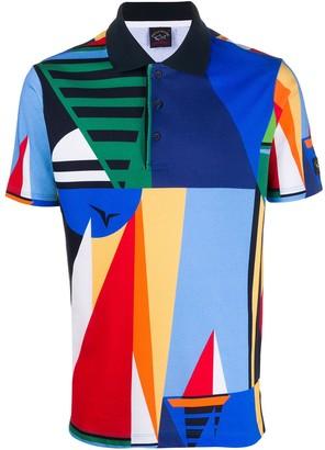 Paul & Shark Abstract Print Polo Shirt