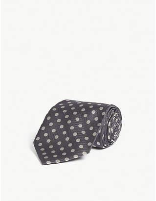 Tom Ford Polka dot print silk tie