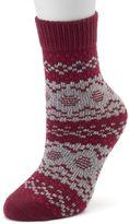 Cuddl Duds Women's Fairisle Crew Socks