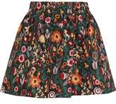 RED Valentino Floral-Print Taffeta Mini Skirt