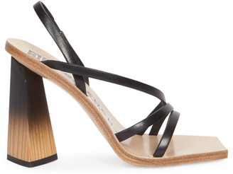 Givenchy Wood & Leather Slingback Sandals