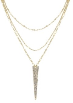 Ettika Layered Crystal Spike Necklace