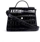 Elizabeth and James 'Eloise' mini croc embossed leather satchel