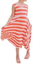 Comemall Kid Girls Summer One Piece Beach Dress Stripes Sundress Skirts Clothes