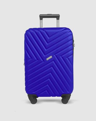Jett Black Royal Blue Maze Carry On Suitcase