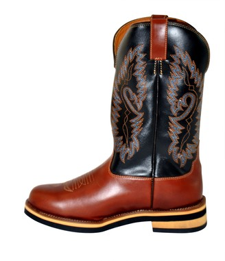 Hkm Sports Equipment HKM 4526 Western Boots Softy Cowboy Boots Western Cowboy Real Leather Brown 45