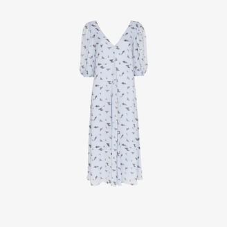 Ganni Floral print flared dress