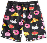 Neff Men's Pool Party Graphic-Print Hot Tub Board Shorts