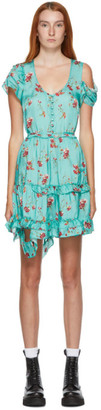 R 13 Blue Floral Deconstructed Babydoll Dress