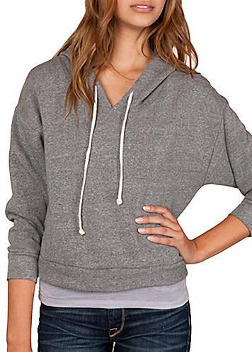Alternative Apparel Grey Dolman Pullover Hoodie