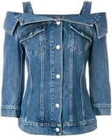 Alexander McQueen cold shoulder denim jacket