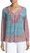 Tolani Pamela Printed Silk Tunic