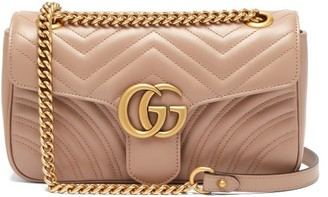 Gucci GG Marmont Small Quilted-leather Shoulder Bag - Nude