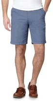 Maine New England Big And Tall Blue Dotted Print Chino Shorts