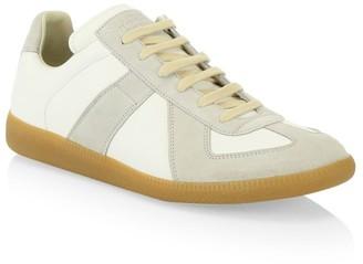 Maison Margiela Replica Leather & Suede Sneakers