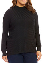 Allison Daley Plus Mock-Neck Pullover Sweater