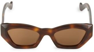 Loewe 50MM Havana Angular Cat Eye Sunglasses