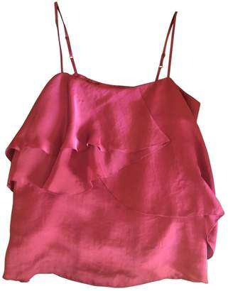 Twelfth St. By Cynthia Vincent Pink Silk Top for Women