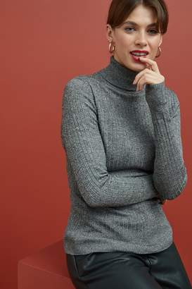 Next Womens Monochrome Roll Neck Jumper - Black