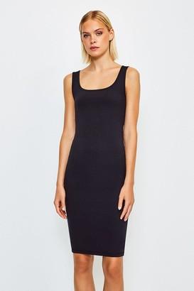 Karen Millen Smooth Essential Scoop Neck Slip Midi Dress
