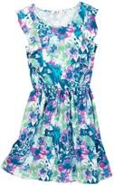 Dex Short Frill Pattern Dress (Big Girls)