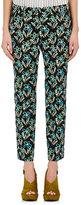 Prada Women's Floral Stretch-Cotton Poplin Ankle Pants