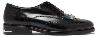 Toga Virilis Polido Front Tassel Leather Brogues - Mens - Black