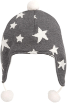 A Pea in the Pod Charcoal Star Aviator Hat By Elegant Baby