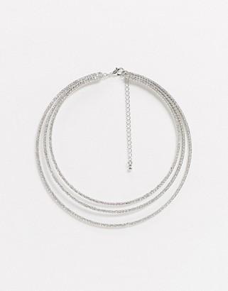 True Decadence multirow necklace in silver