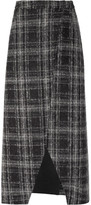 J.W.Anderson Plaid felt midi skirt