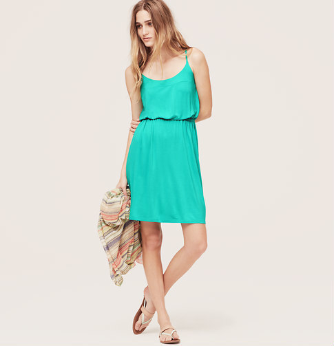 LOFT Beach Spaghetti Strap Dress