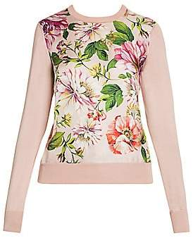 Dolce & Gabbana Women's Floral Silk Knit Sweater