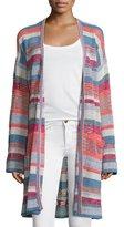 Zadig & Voltaire Celia Ho Striped Mesh Sweater, Rose/Multicolor