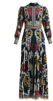Mary Katrantzou Mizar pleated-crepe gown