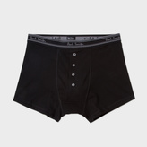 Paul Smith Men's Black Four Button Boxer Briefs