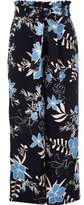 River Island Girls blue floral paperbag wide leg pants
