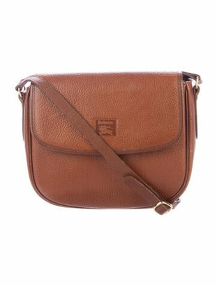 Burberry Vintage Leather Crossbody Bag Brown