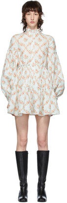 Wandering White and Pink Floral Boho Dress