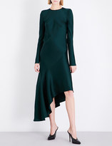 Haider Ackermann Asymmetric crepe midi dress