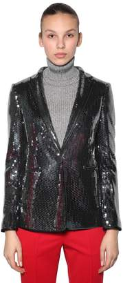 Marco De Vincenzo SEQUINED BLAZER JACKET