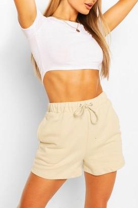 boohoo High Waist Jersey Sweat Shorts
