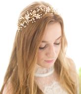 Gold Floral Rhinestone Headband