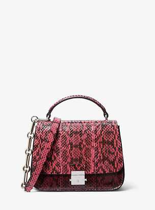 Michael Kors Mia Small Tri-Color Snakeskin Shoulder Satchel