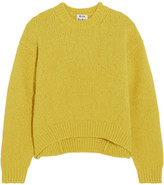 Acne Studios Shira Oversized Alpaca-blend Sweater - Chartreuse