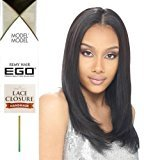 "Ego REMY LACE CLOSURE 10"" (2 Dark Brown) - Model Model 100% Human Virgin Hair Weave Extensions"