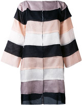 Gianluca Capannolo striped oversized coat - women - Silk - 40