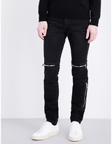 Givenchy Zip-detail Slim-fit Tapered Jeans