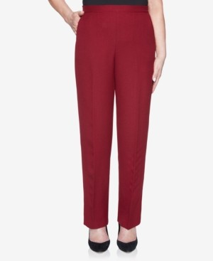 Alfred Dunner Women's Plus Size Madison Avenue Textured Proportioned Medium Pant